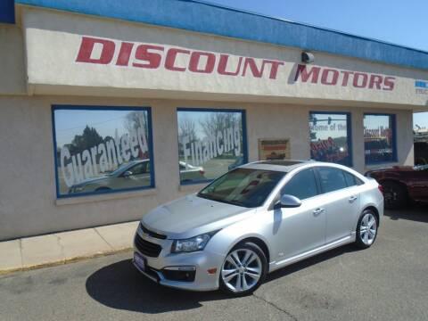 2015 Chevrolet Cruze for sale at Discount Motors in Pueblo CO