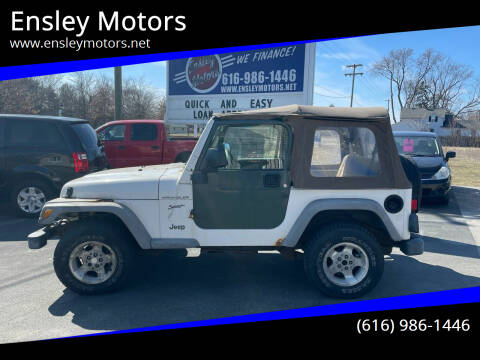 2002 Jeep Wrangler for sale at Ensley Motors in Allendale MI
