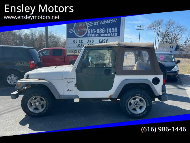 2002 Jeep Wrangler for sale at Ensley Motors in Allendale MI