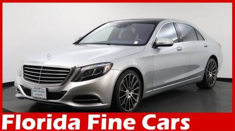 2017 Mercedes-Benz S-Class for sale at Florida Fine Cars - West Palm Beach in West Palm Beach FL