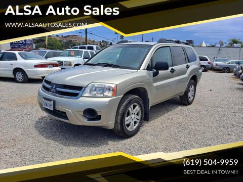 2007 Mitsubishi Endeavor for sale at ALSA Auto Sales in El Cajon CA