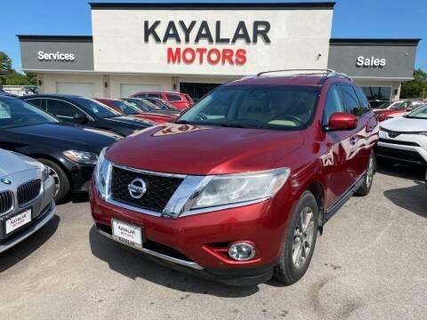 2016 Nissan Pathfinder for sale at KAYALAR MOTORS in Houston TX