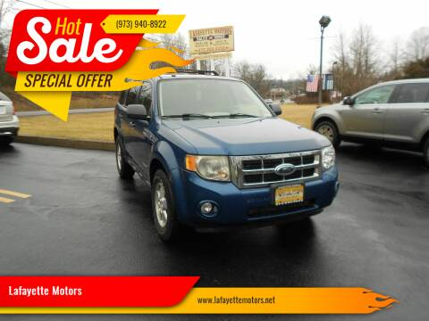 2008 Ford Escape for sale at Lafayette Motors 2 in Andover NJ