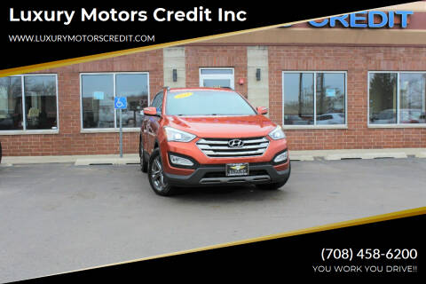 2013 Hyundai Santa Fe Sport for sale at Luxury Motors Credit Inc in Bridgeview IL