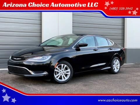 2015 Chrysler 200 for sale at Arizona Choice Automotive LLC in Mesa AZ