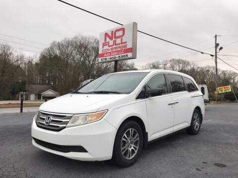 2011 Honda Odyssey for sale at No Full Coverage Auto Sales in Austell GA