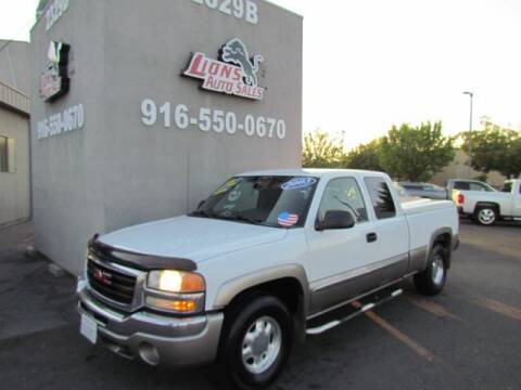 2003 GMC Sierra 1500 for sale at LIONS AUTO SALES in Sacramento CA