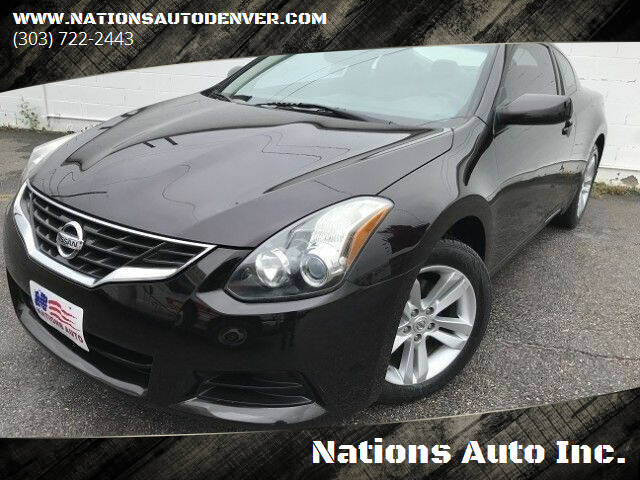 2012 Nissan Altima for sale at Nations Auto Inc. in Denver CO
