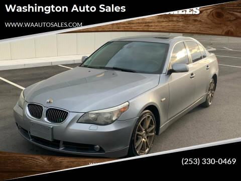 2007 BMW 5 Series for sale at Washington Auto Sales in Tacoma WA