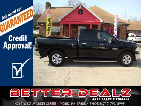 2013 RAM Ram Pickup 1500 for sale at Better Dealz Auto Sales & Finance in York PA