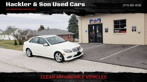 2011 Mercedes-Benz C-Class for sale at Hackler & Son Used Cars in Red Lion PA