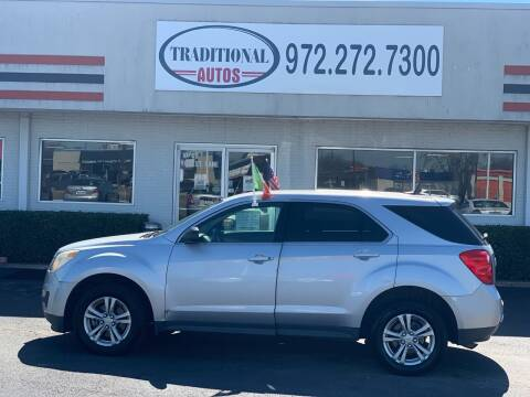 2010 Chevrolet Equinox for sale at Traditional Autos in Dallas TX