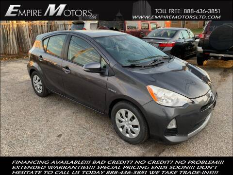 2013 Toyota Prius c for sale at Empire Motors LTD in Cleveland OH
