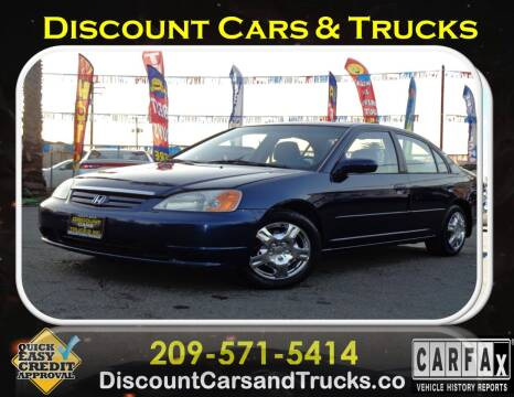 2002 Honda Civic for sale at Discount Cars & Trucks in Modesto CA