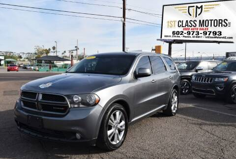 2012 Dodge Durango for sale at 1st Class Motors in Phoenix AZ