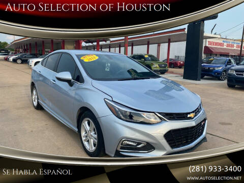 2018 Chevrolet Cruze for sale at Auto Selection of Houston in Houston TX