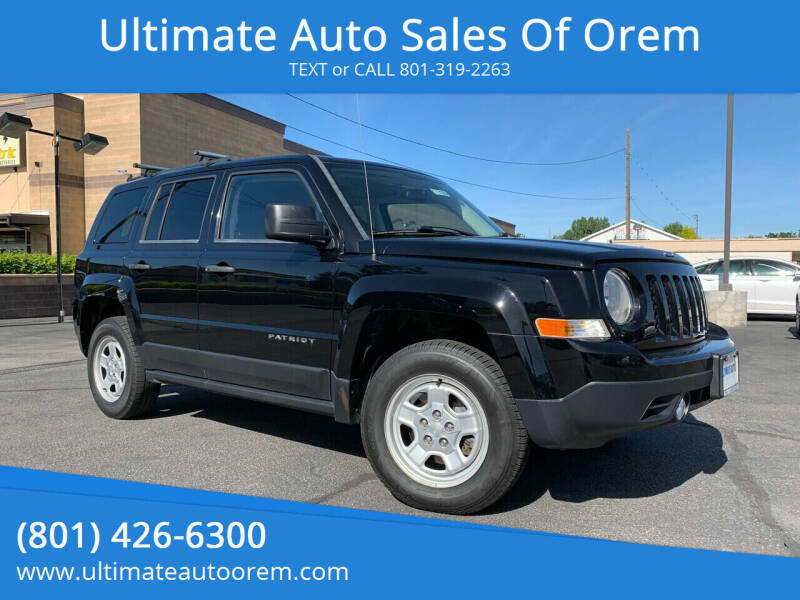 2013 Jeep Patriot for sale at Ultimate Auto Sales Of Orem in Orem UT