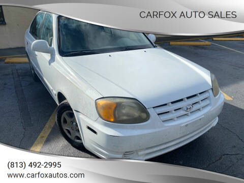 2003 Hyundai Accent for sale at Carfox Auto Sales in Tampa FL