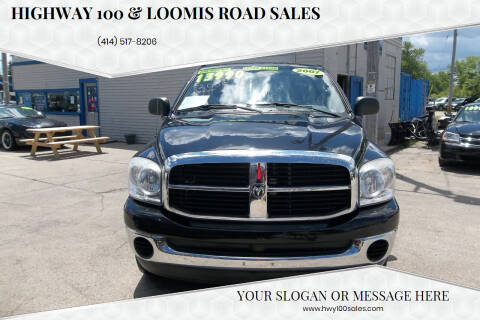 2007 Dodge Ram Pickup 1500 for sale at Highway 100 & Loomis Road Sales in Franklin WI