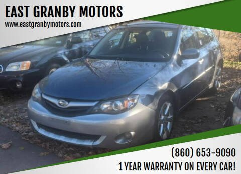2011 Subaru Impreza for sale at EAST GRANBY MOTORS in East Granby CT