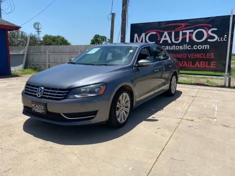 2012 Volkswagen Passat for sale at MC Autos LLC in Pharr TX