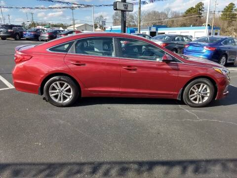 2015 Hyundai Sonata for sale at Kenny's Auto Sales Inc. in Lowell NC