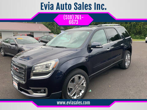 2017 GMC Acadia Limited for sale at Evia Auto Sales Inc. in Glens Falls NY