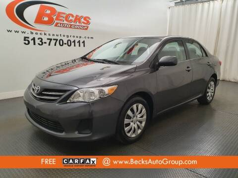 2013 Toyota Corolla for sale at Becks Auto Group in Mason OH