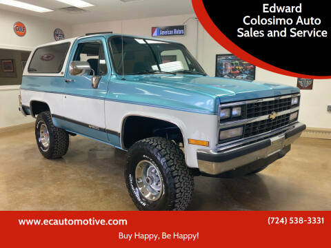 1989 Chevrolet Blazer for sale at Edward Colosimo Auto Sales and Service in Evans City PA