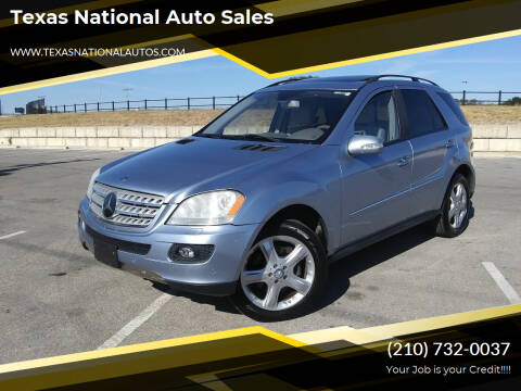 2008 Mercedes-Benz M-Class for sale at Texas National Auto Sales in San Antonio TX