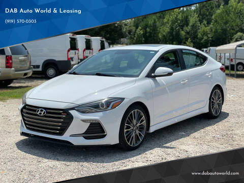 2018 Hyundai Elantra for sale at DAB Auto World & Leasing in Wake Forest NC