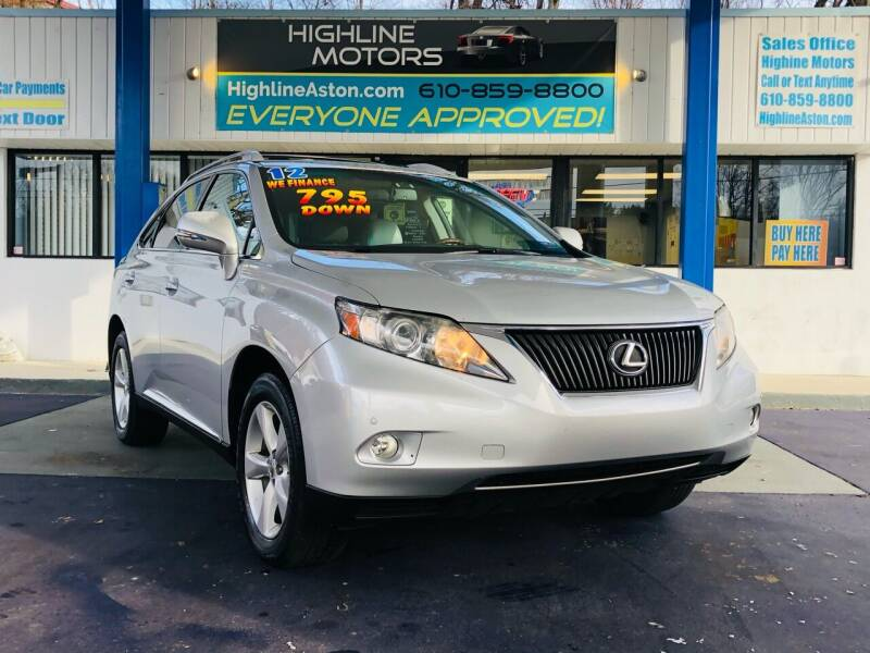 2012 Lexus RX 350 for sale at Highline Motors in Aston PA