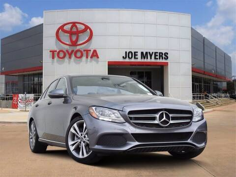 2018 Mercedes-Benz C-Class for sale at Joe Myers Toyota PreOwned in Houston TX