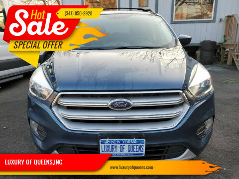2018 Ford Escape for sale at LUXURY OF QUEENS,INC in Long Island City NY