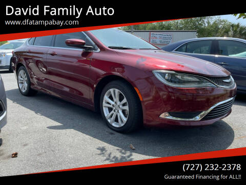 2015 Chrysler 200 for sale at David Family Auto in New Port Richey FL