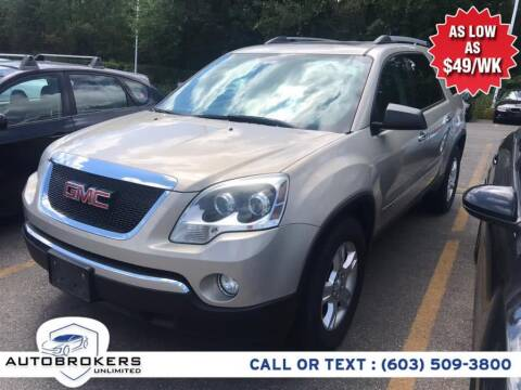 2010 GMC Acadia for sale at Auto Brokers Unlimited in Derry NH