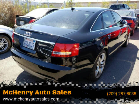 2008 Audi S6 for sale at McHenry Auto Sales in Modesto CA