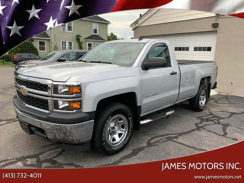 2014 Chevrolet Silverado 1500 for sale at James Motors Inc. in East Longmeadow MA