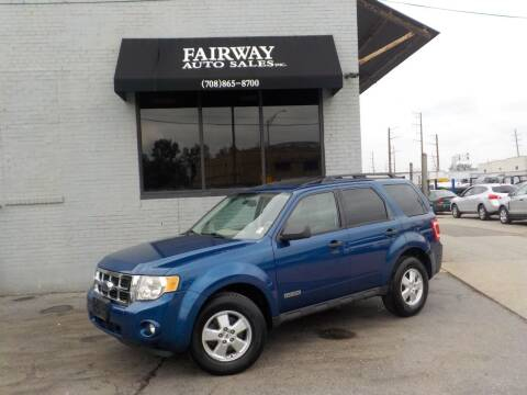 2008 Ford Escape for sale at FAIRWAY AUTO SALES, INC. in Melrose Park IL