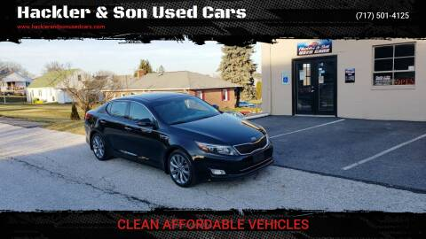 2014 Kia Optima for sale at Hackler & Son Used Cars in Red Lion PA