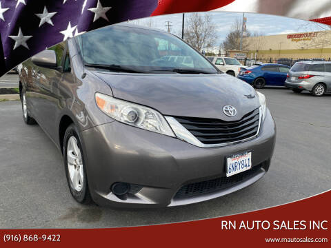2011 Toyota Sienna for sale at RN Auto Sales Inc in Sacramento CA