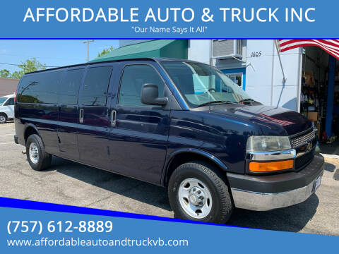 2011 Chevrolet Express Passenger for sale at AFFORDABLE AUTO & TRUCK INC in Virginia Beach VA