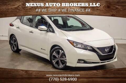 2019 Nissan LEAF for sale at Nexus Auto Brokers LLC in Marietta GA