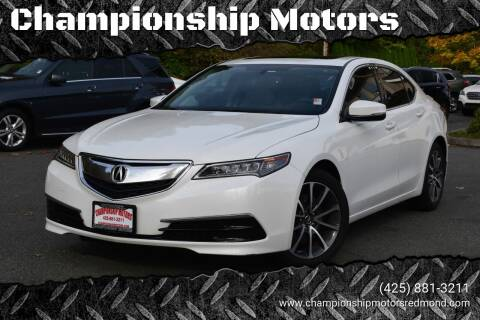 2015 Acura TLX for sale at Mudarri Motorsports - Championship Motors in Redmond WA