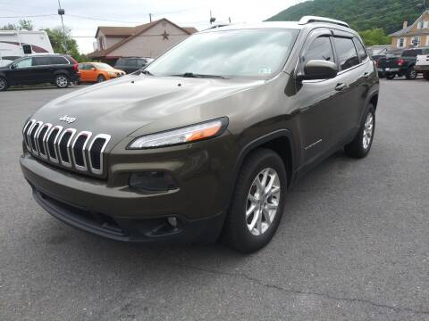 2015 Jeep Cherokee for sale at Mulligan's Auto Exchange LLC in Paxinos PA