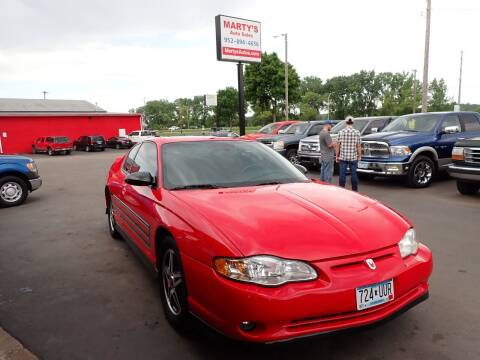 2004 Chevrolet Monte Carlo for sale at Marty's Auto Sales in Savage MN