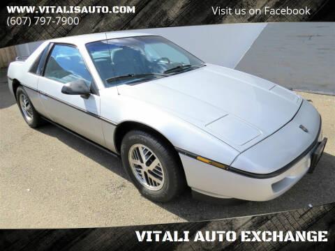 1987 Pontiac Fiero for sale at VITALI AUTO EXCHANGE in Johnson City NY