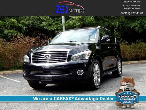 2013 Infiniti QX56 for sale at Zed Motors in Raleigh NC
