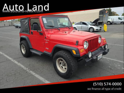 2001 Jeep Wrangler for sale at Auto Land in Newark CA