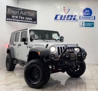 2008 Jeep Wrangler Unlimited for sale at Elegant Auto Sales in Rancho Cordova CA